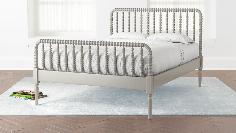 Jenny Lind Grey Full Bed + Reviews Crate and Barrel in