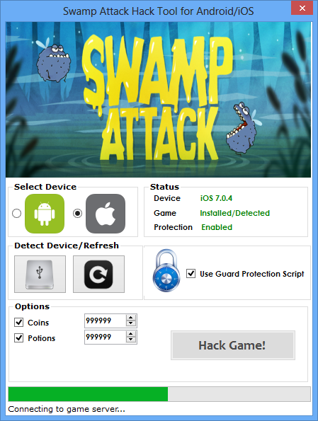 Swamp Attack Hack (Android/iOS) | Safe Files | Cheat engine