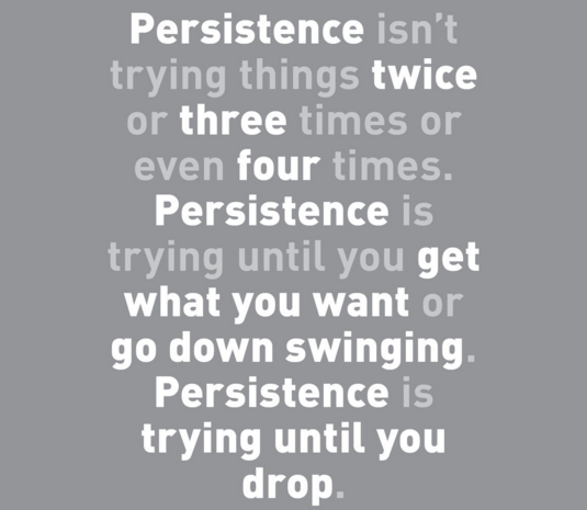 Tenacity, Persistence, Best quotes