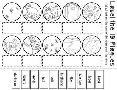 image regarding 10 Plagues Printable named The 10 Plagues of Egypt Worksheet Pack versus The Valuable