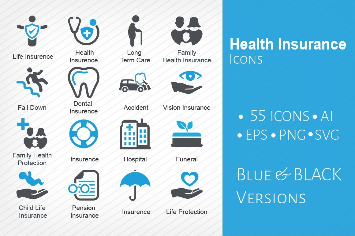 Health insurance icons in 2020 health insurance best