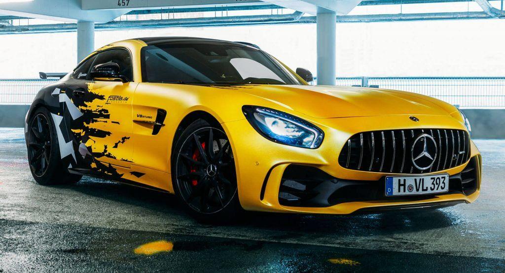 Fostla S Mercedes Amg Gt R Gets 641 Hp Urban Camo And Yellow Wrap
