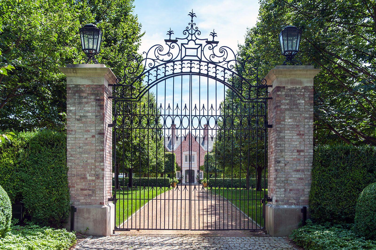 Tall Narrow Wrought Iron Driveway Gate Driveway Gate Wrought