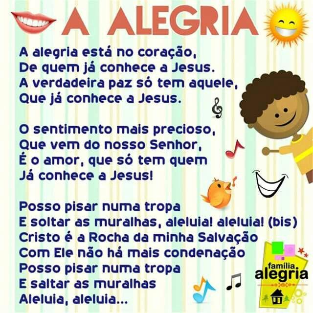 A Alegria Louvor Infantil Familia Alegria Musicas Infantil