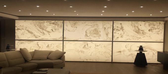 Amberlite Wall Paneling Onyx