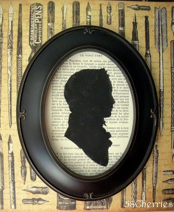 I Dearly Love This Silhouette Mounted On A Book Page This Listing