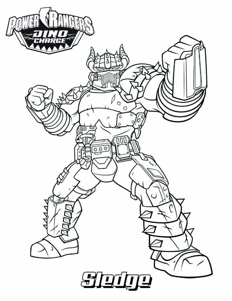 Power Ranger Coloring Pages Sledge In Power Rangers Coloring Page Free Printable Power Rangers Coloring Pages Power Rangers Dino Coloring Pages