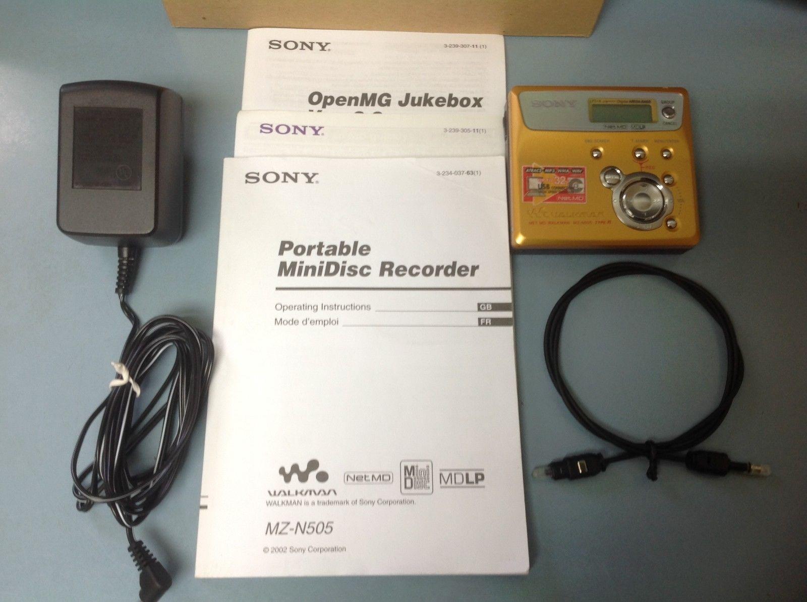 Sony MZ-N505S Net MD Walkman Player/Recorder Silver Minidisc ...