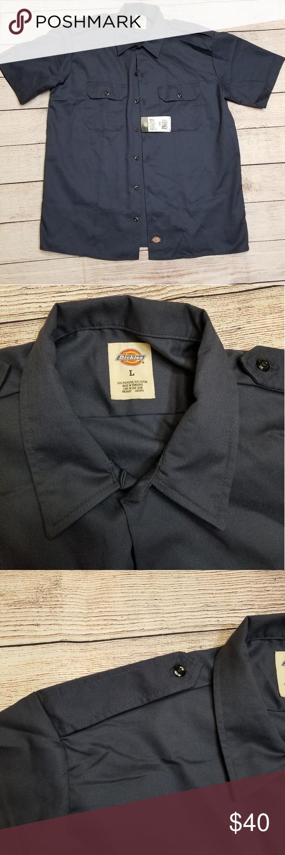 Dickies Work Shirt Vintage Nwt In 2020 Work Shirts Mens Shirt Dress Dickies