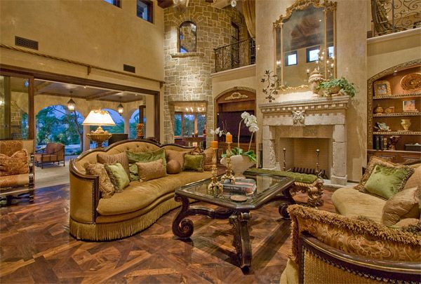 20 Luxurious Design Of A Mediterranean Living Room Home Design Lover Tuscan Living Rooms Fancy Living Room Tuscan Design