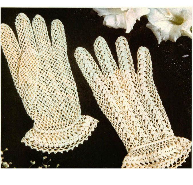 Patron de crochet pdf de tejido crochet guantes por Liloumariposa ...