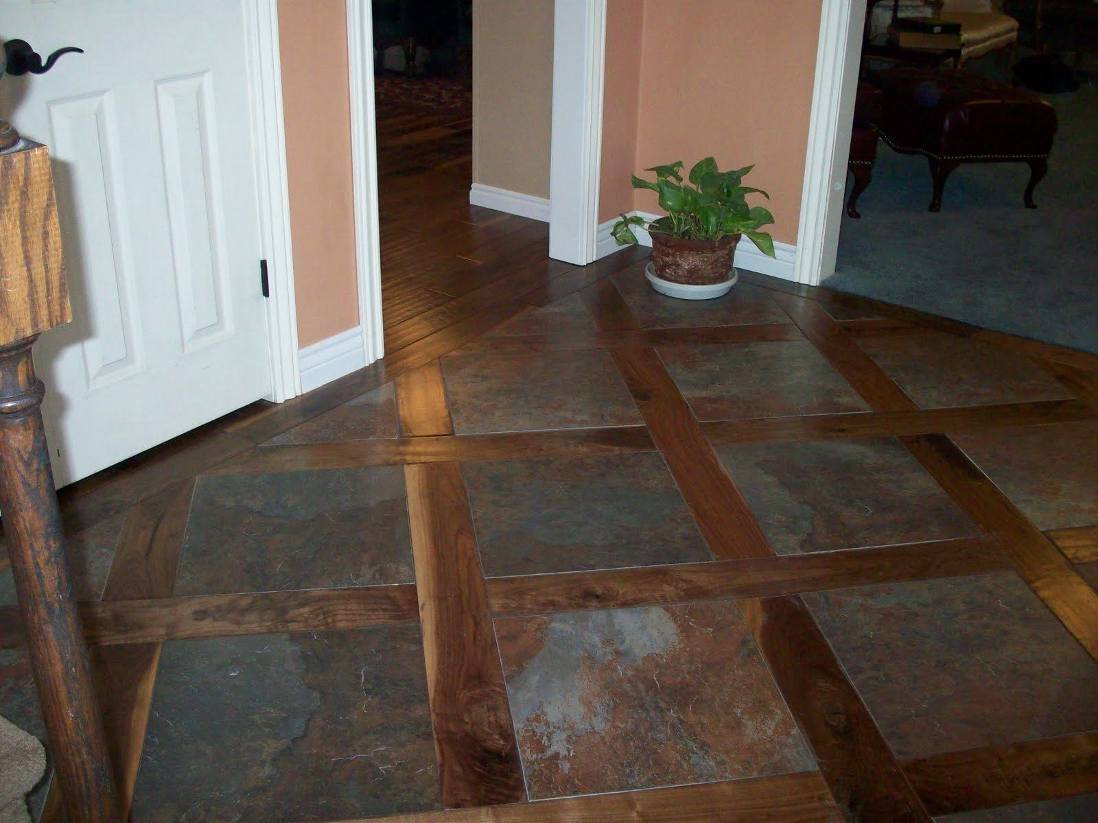 Wood Floors Hallway Transition Direction Laminate Flooring