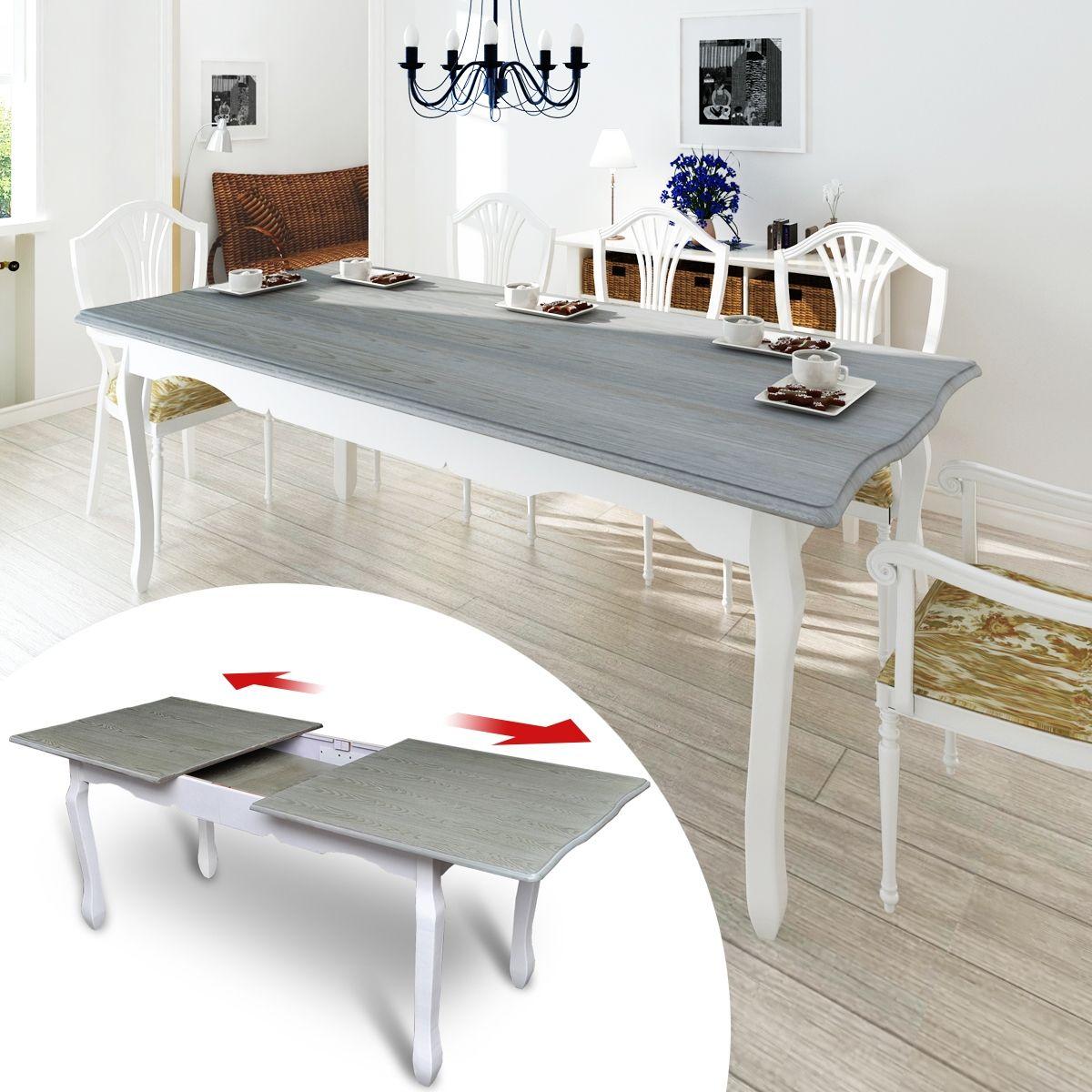 Esszimmertisch erweiterbar auf 200 cm Esstisch massiv Holz