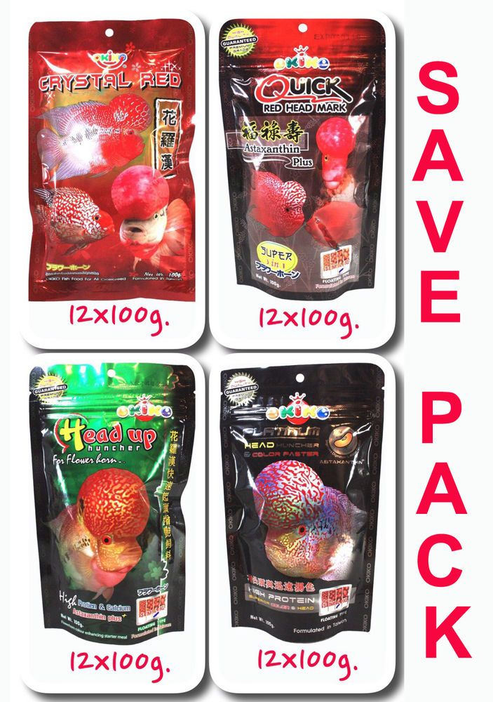Save Pack OKIKO High Quality Flowerhorn and Cichild Fish