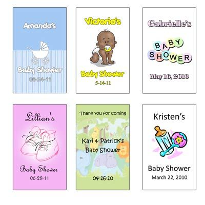 "12 Personalized Baby Shower Labels (1.75"" x 2.75"") LB12CARD-BABY-TR.  *** 12 count for $2.99.  Wrapwithus.com"
