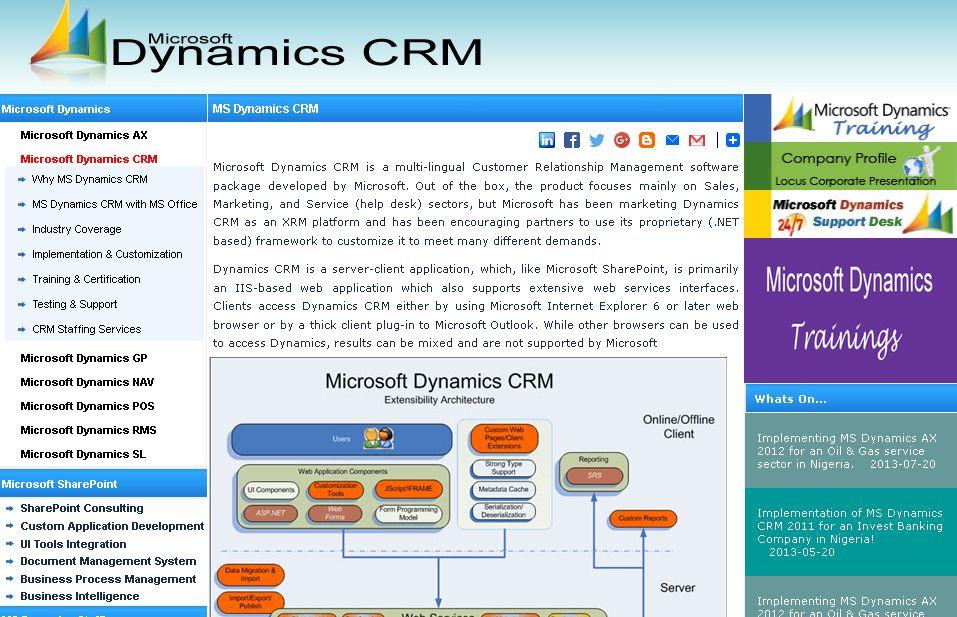 MICROSOFT DYNAMICS CRM Microsoft dynamics, Microsoft