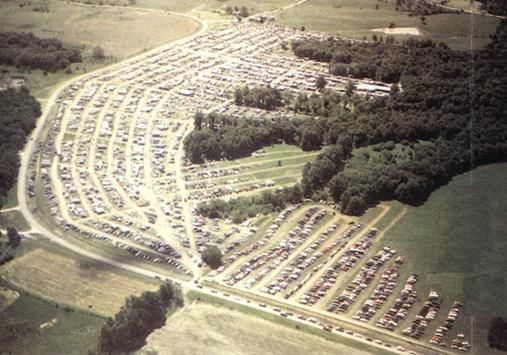 An Aerial View Of Rutledge Flea Market In Mo Which Takes Place