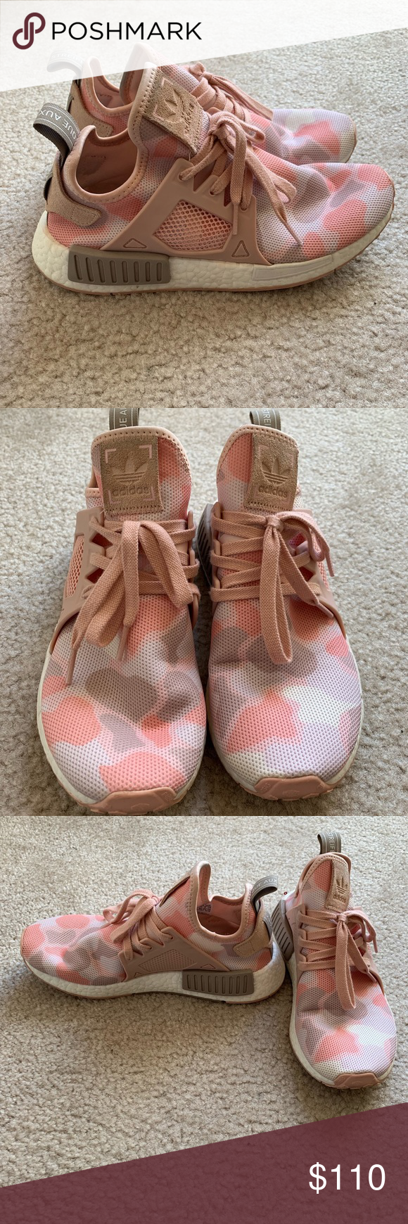 outlet store 3622e f65cf Pink Camp NMD XR1 Pink Camo NMD XR1 Adidas. Size 8.5 women ...
