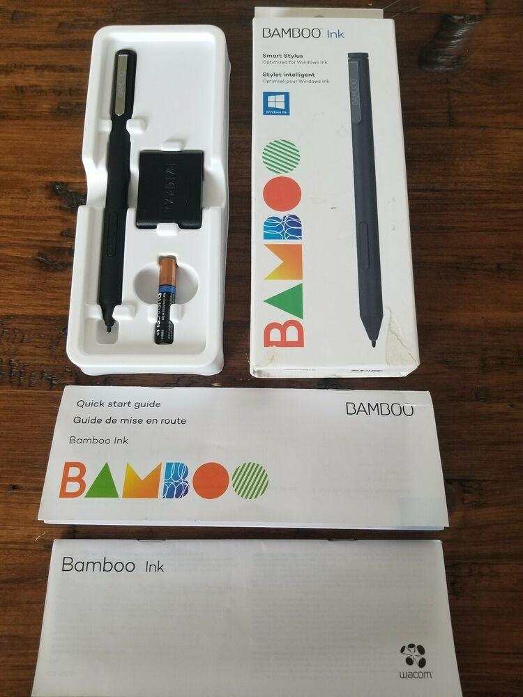 Wacom Bamboo Ink Smart Stylus Black for Windows 10 pen enabled