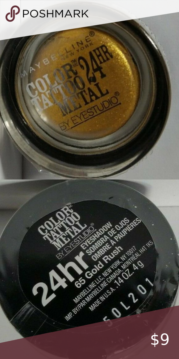 Maybelline Color Tattoo Eye Shadow Gold Rush 65 In 2020 Maybelline Color Eyeshadow Maybelline Color Tattoo