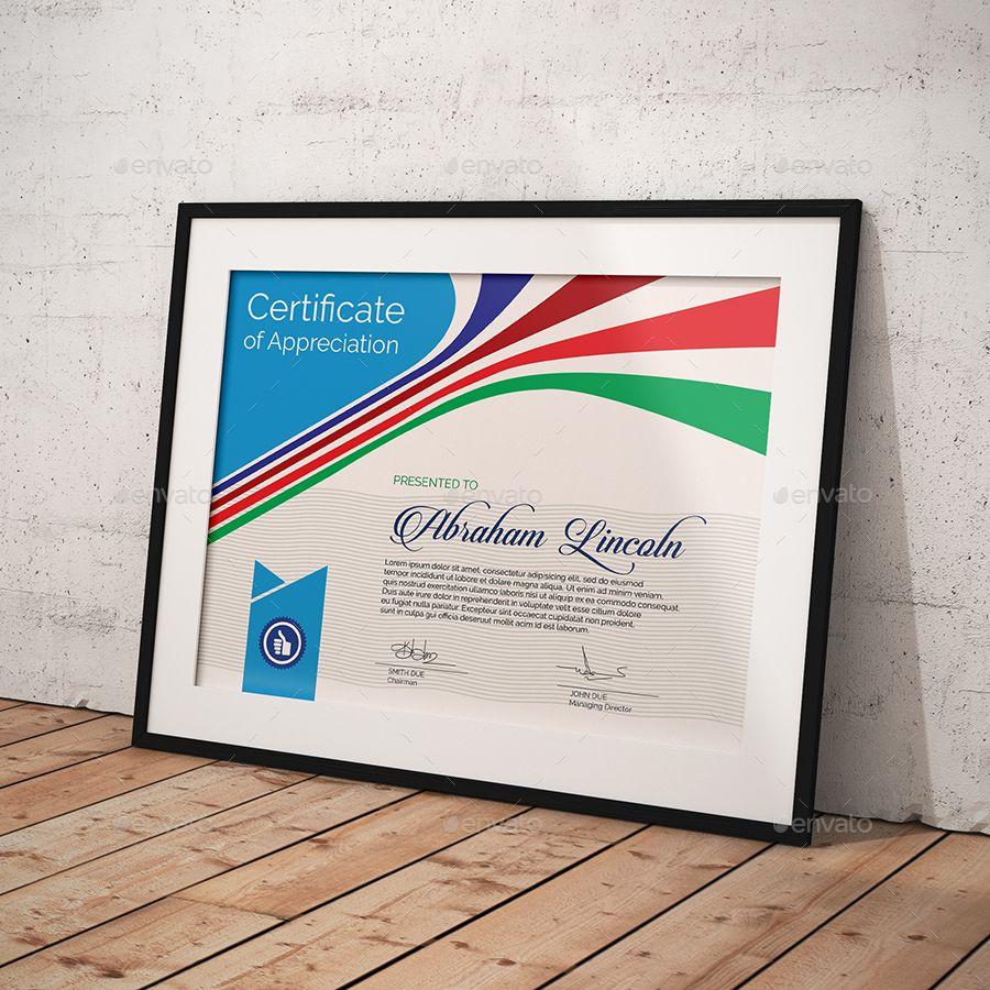 certificate easy template multipurpose simple graphicriver templates merit appreciation format printable pdf graphiccloud