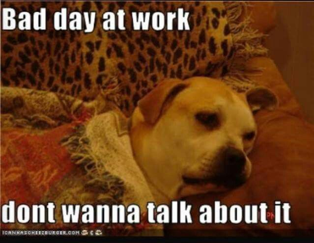 Bad Day At Work Don T Wanna Talk About It Funny Jobs Work Humor True Facts About Life