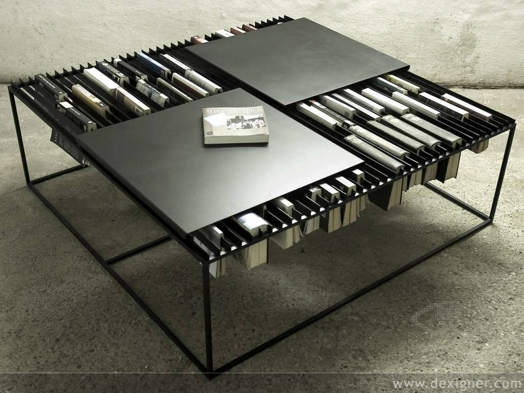 A Bookcase Into Coffee Table Thats Cool Innovative Ideas Of Modern Tables