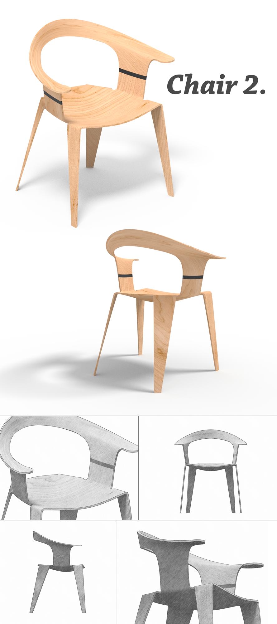 Chair 2.  #chair, #wood, #design