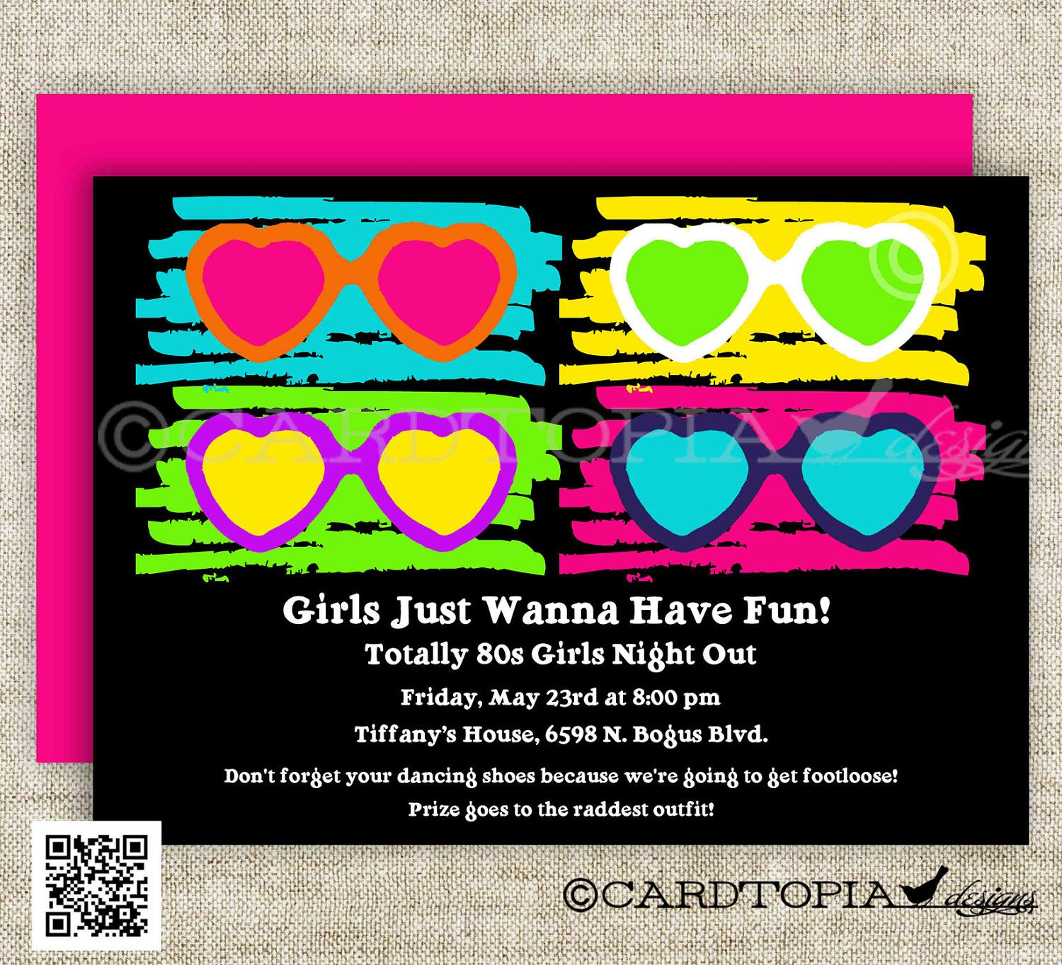 80s BIRTHDAY PARTY Invitations Totally 80s Party 80s Baby Shower 80s ...