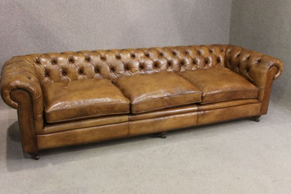 Leather Chesterfield Sofa Antique Style