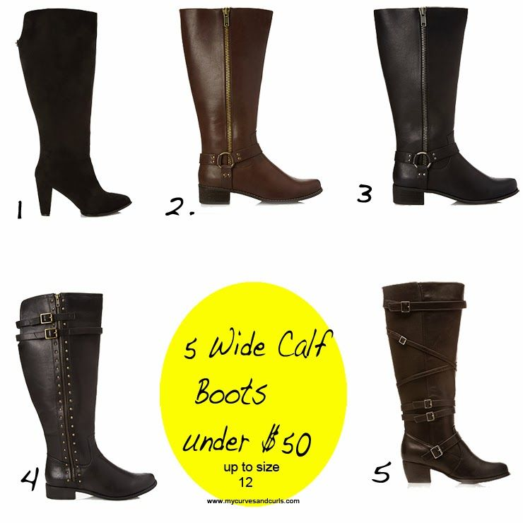 fc0a395385a 5 wide calf boots all under under  50