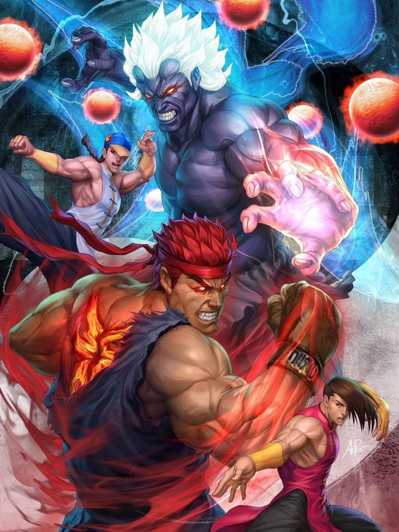 Evil Ryu And Crew Super Street Fighter Iv Ryu Street
