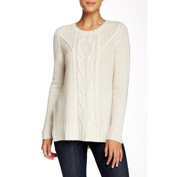 Autumn Cashmere Cable Knit Hi-Lo Cashmere Tunic Sweater ($230 ...