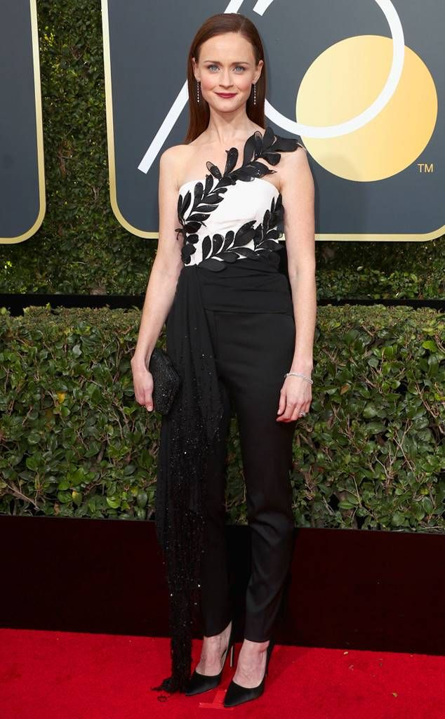 Alexis Bledel from 2018 Golden Globes Red Carpet Fashion | Red ...
