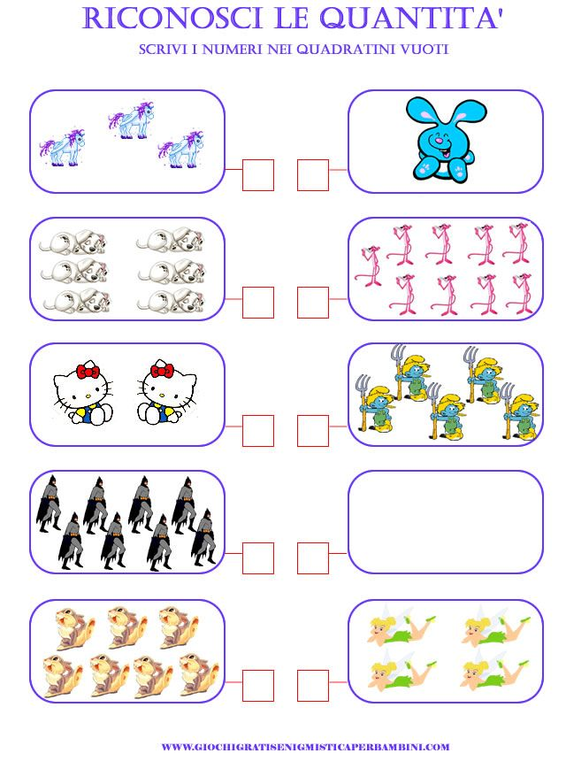 Bien connu matematica_scuola_elementare_riconoscere_quantita giochi  ZJ79