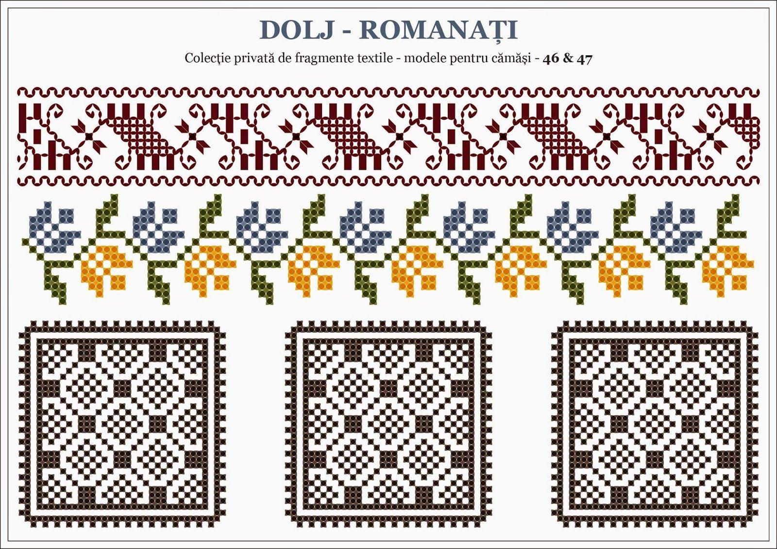 Semne Cusute Romanian Traditional Motifs Southwest Oltenia Dolj Romanati Romanian Folk