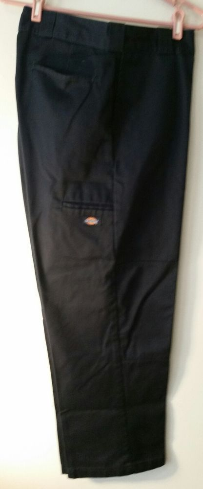 Dickies Men Blue Double Knee Cell Phone Pocket 38w 30l Work Pants Rn