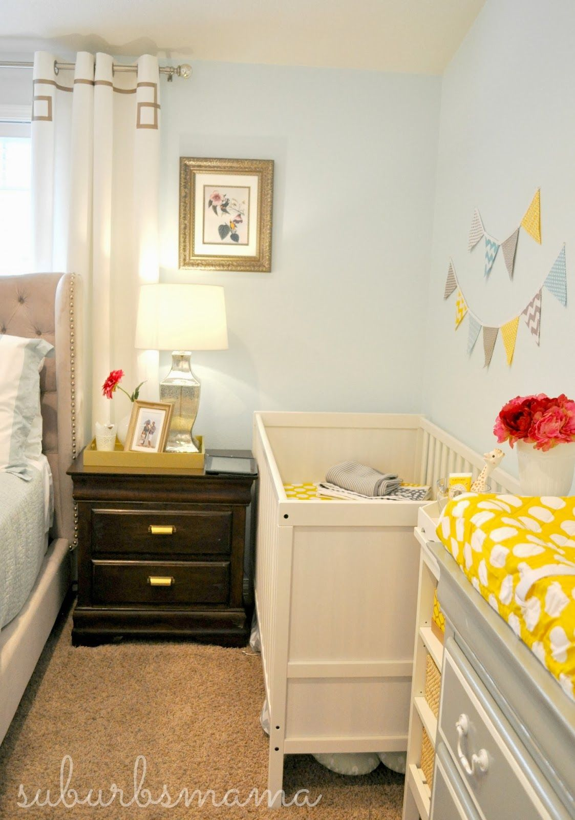 suburbs mama nursery in master bedroom kindergarten