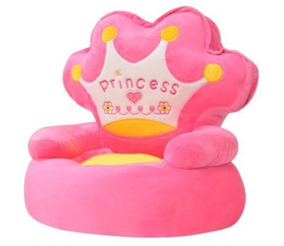Pink Plush Childrens Chair Bedroom Playroom Kids Stuffed Soft Sofa Seat Reading Kids Armchair Childrens Chairs Kids Chairs
