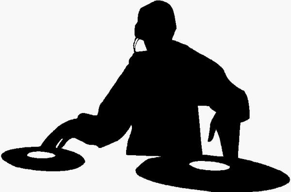 Dj Scratchin Silhouette Adhesive Decal Adhesive Sticker Car Decals Music Decals Music Stickers Band Decals Band Stickers Silhouette Dj Music Silhouette