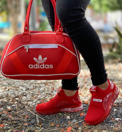 all red adidas way one