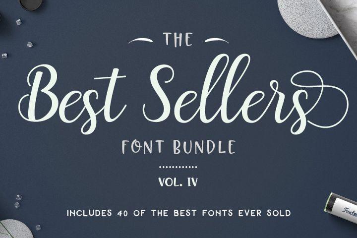 40 of The Best Seller's Font Bundle - top 40 best selling