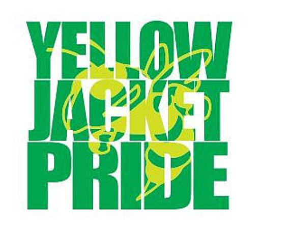 Yellow Jacket Pride Knockout Font Svg File For Cricut
