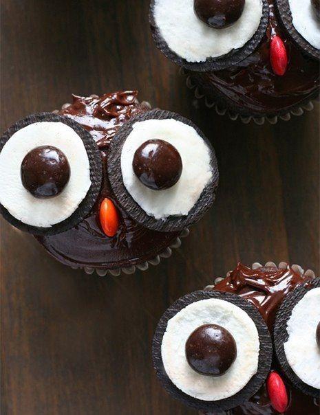 Super idea for owl cupcakes!