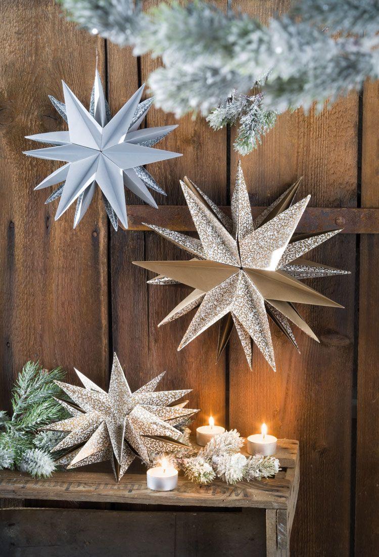 asteristern  sterne falten weihnachten sterne basteln