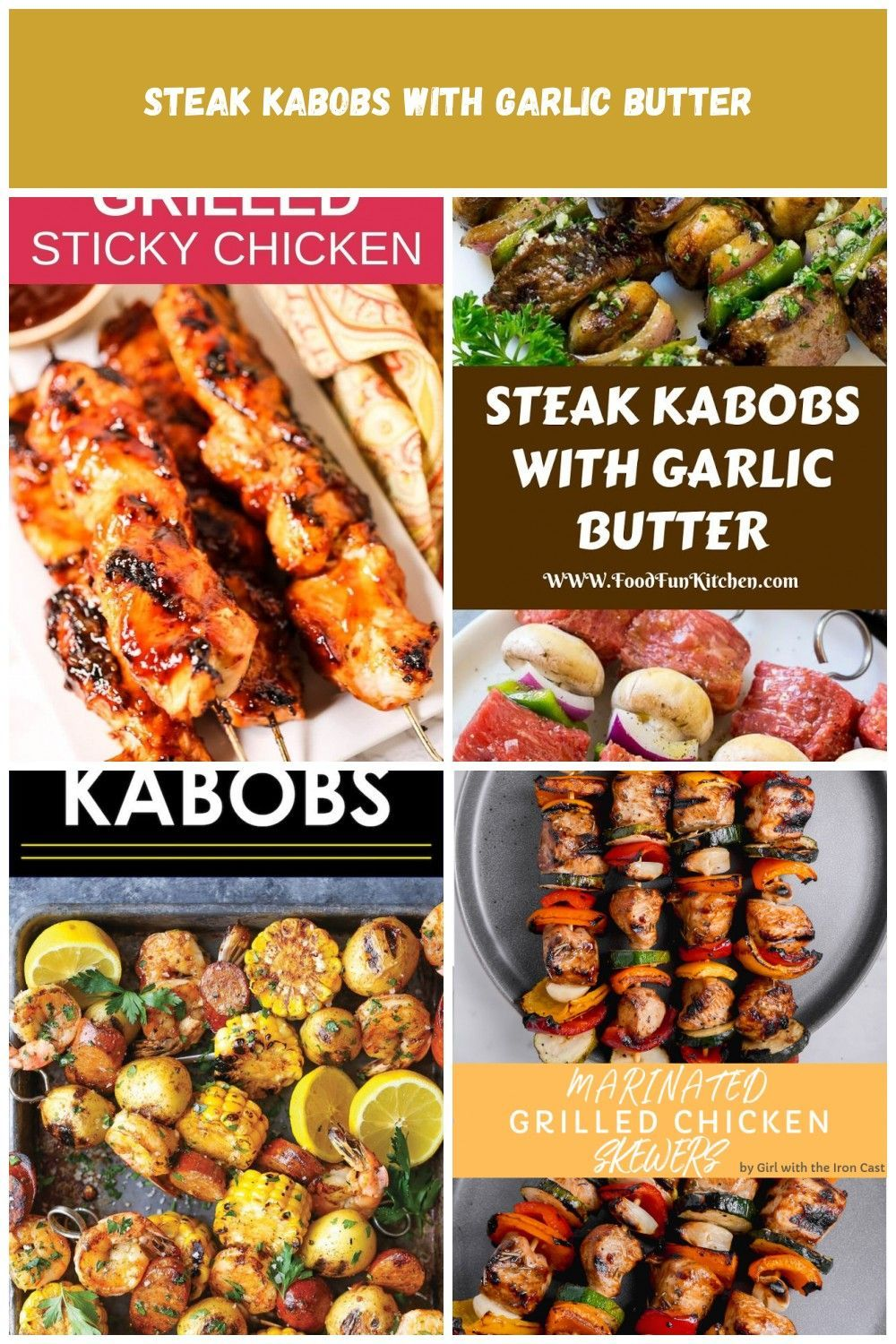 These grilled Sticky Chicken Kabobs are a flavor explosion and the sauce gets sticky & caramelized. It's my favorite grilled chicken breast marinade. They are the perfect summer-time food! Chicken kabob marinade recipe, chicken kabobs on the grill, easy summer recipes, summer party recipes, summer grilling recipes grilling recipes Kabobs #chickenkabobmarinade These grilled Sticky Chicken Kabobs are a flavor explosion and the sauce gets sticky & caramelized. It's my favorite grilled chicken b #chickenkabobmarinade