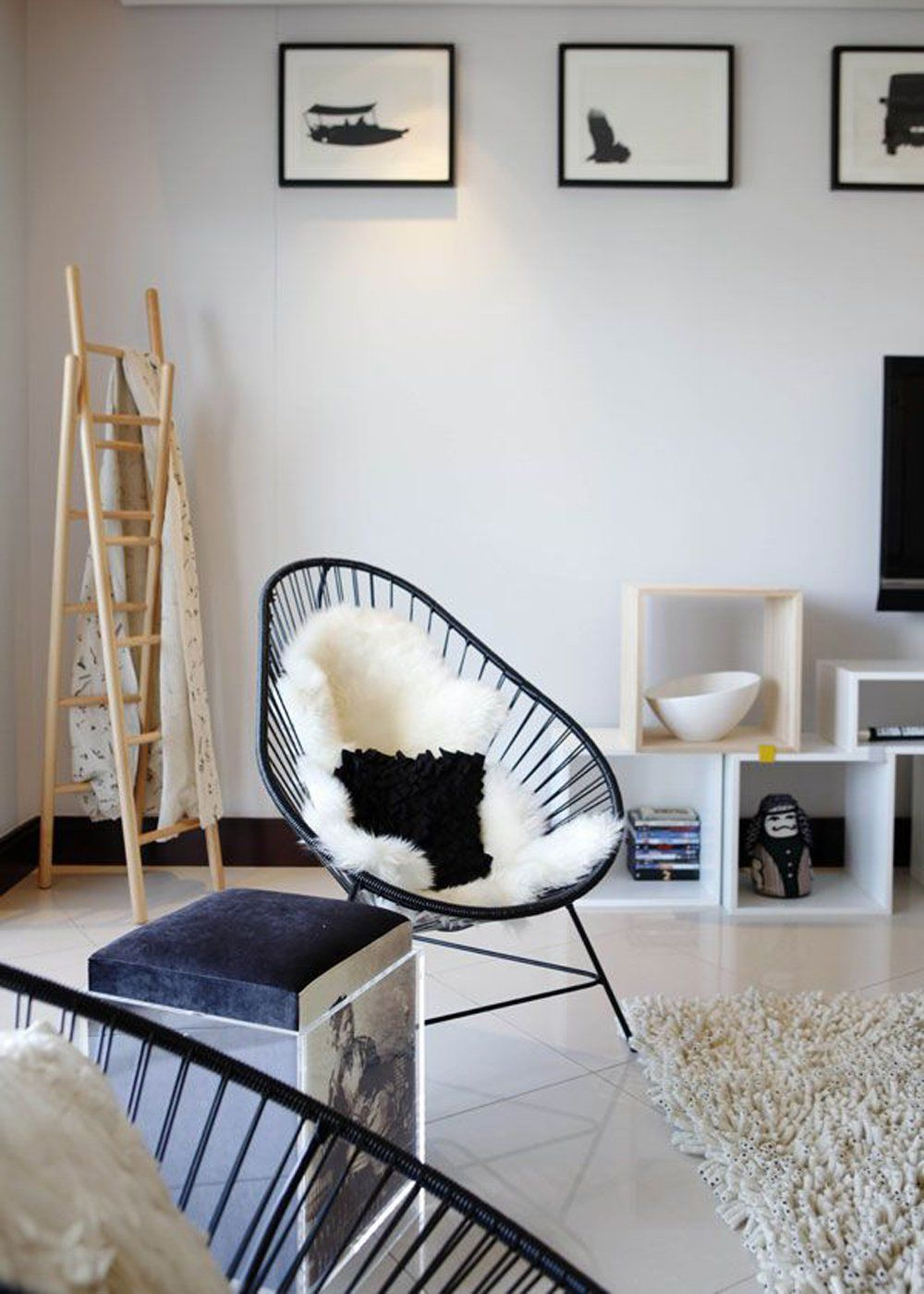 Comment Relooker Son Fauteuil Acapulco Salons And Room - Fauteuil acapulco noir