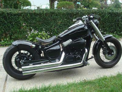 moto custom: honda custom bobber spirit e black spirit | shadow