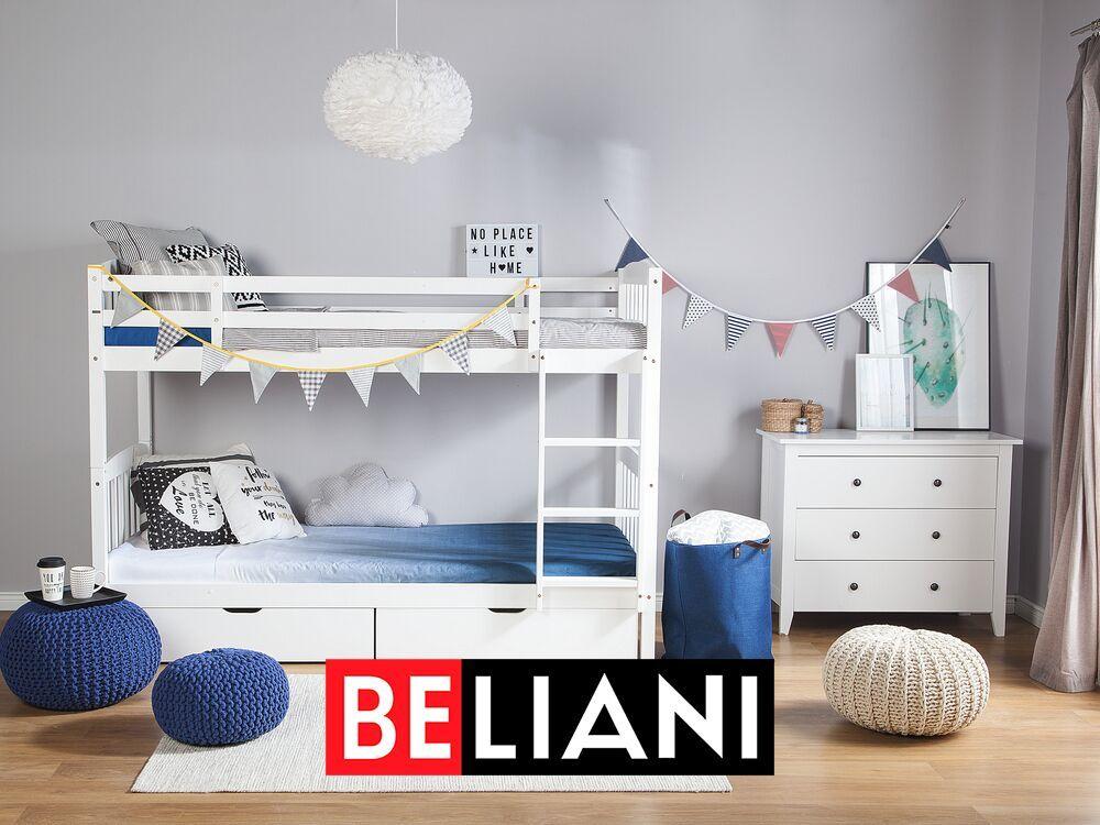 Platzsparendes Und Komfortables Hochbett In Weiss In 2020 Bunk