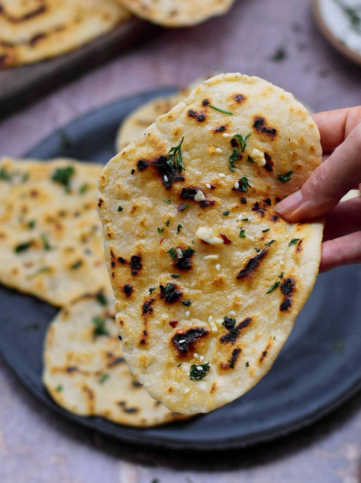 Gluten Free Naan   Vegan Indian Flatbread - Elaveg